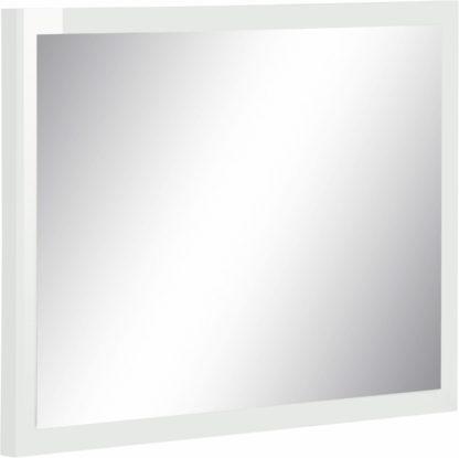 Eleganckie lustro w białej ramie