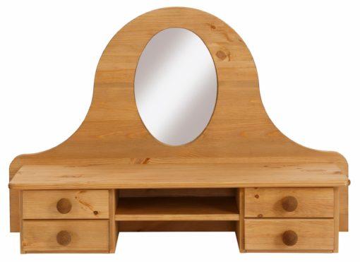 Sosnowa nadstawka na komodę z lustrem