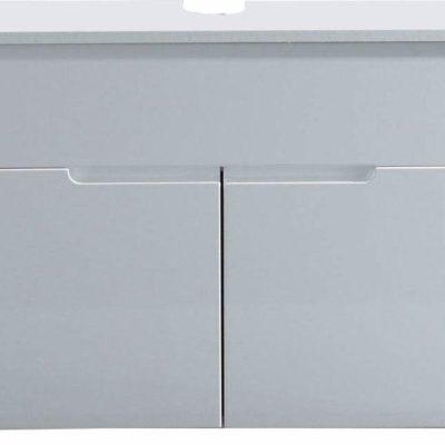 Minimalistyczna, biała szafka pod umywalkę
