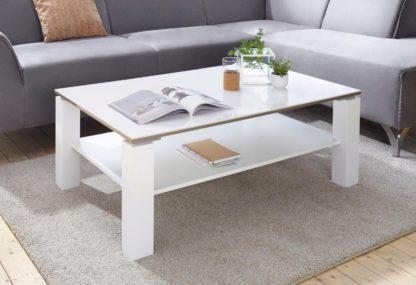 Ponadczasowo elegancki, biały stolik kawowy