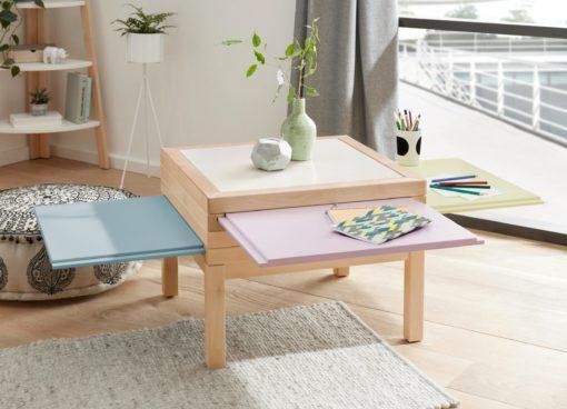 Cudownie funkcjonalny stolik z wysuwanymi blatami
