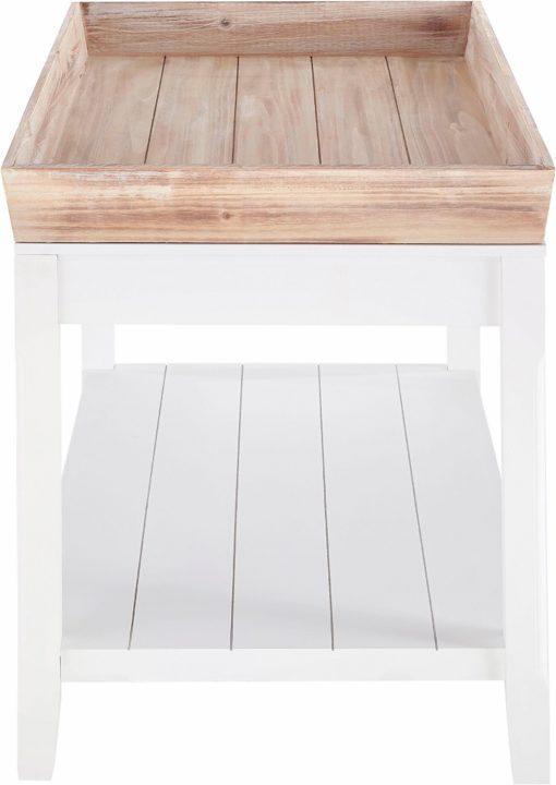 Wyjątkowy stolik ze zdejmowaną tacą z drewna paulovnia