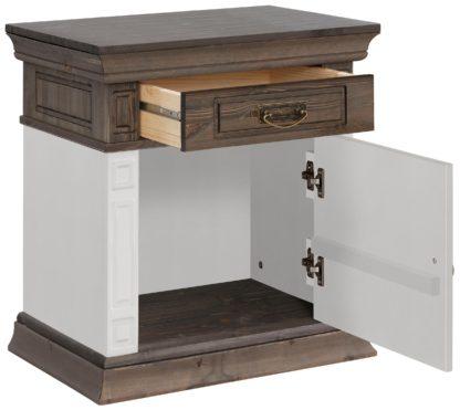Urocza szafka nocna z drewna