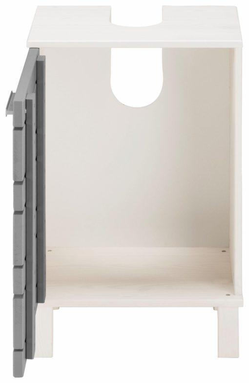 Atrakcyjna szafka pod umywalkę, biało-szara