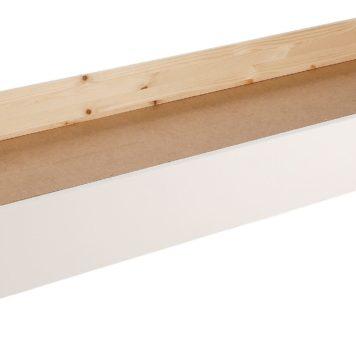 Sosnowa szuflada pod łóżko, biała