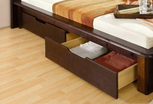 Zestaw dwóch sosnowych szuflad pod łóżko
