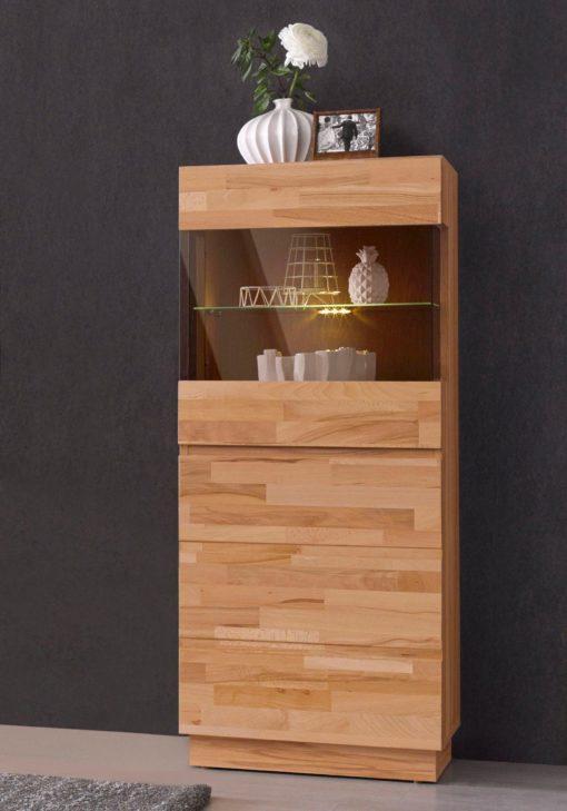 Modna, bukowa witryna - lite drewno