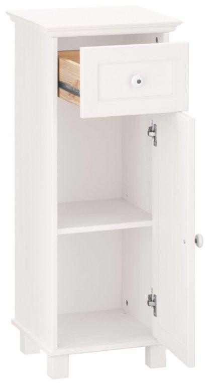 Ozdobna szafka łazienkowa/komoda, biała