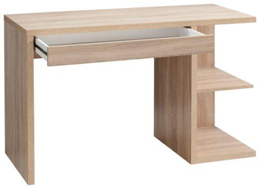 Nowoczesne i praktyczne biurko w kolorze dębu