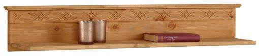 Atrakcyjny regał i półka ścienna z drewna sosnowego