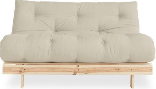 Nowoczesna kanapa z materacem futon 140 cm, beżowa