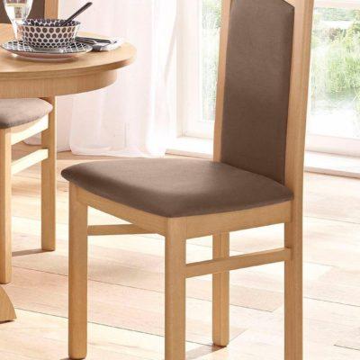 Klasyczne, proste krzesła - 2 sztuki