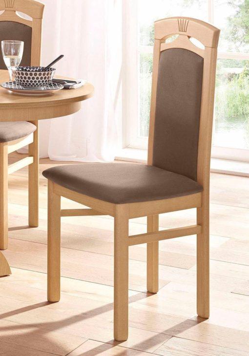 Klasyczne, proste krzesła - 4 sztuki