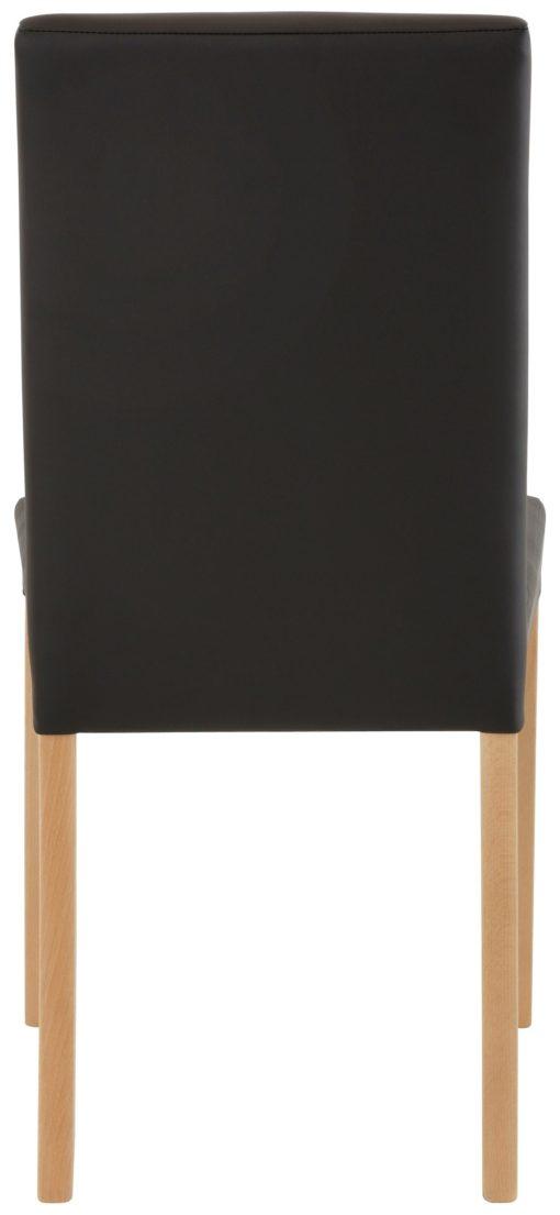 Gustowne, proste krzesła - 6 sztuk, brązowe