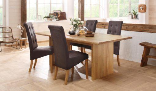 Wyrafinowane, tapicerowane krzesła zestaw 4 sztuki