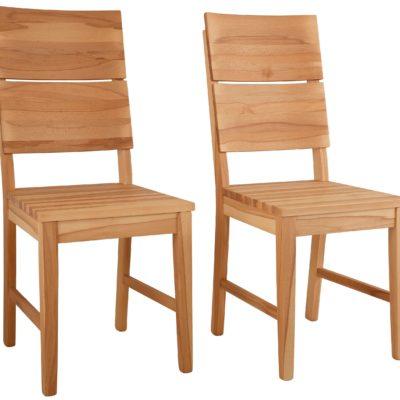 Krzesła z litego drewna bukowego - 2 sztuki