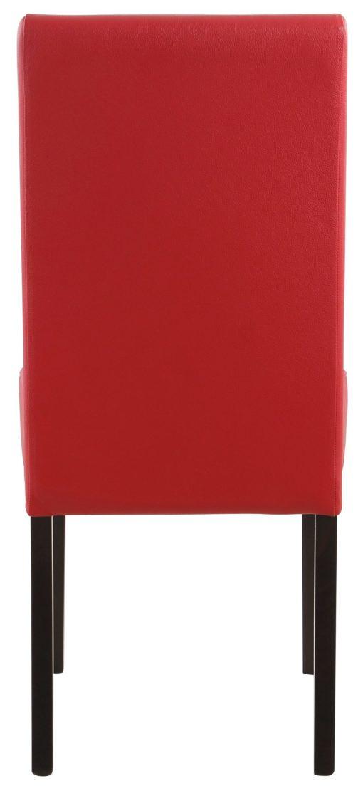 Czerwone, eleganckie krzesła - 4 sztuki