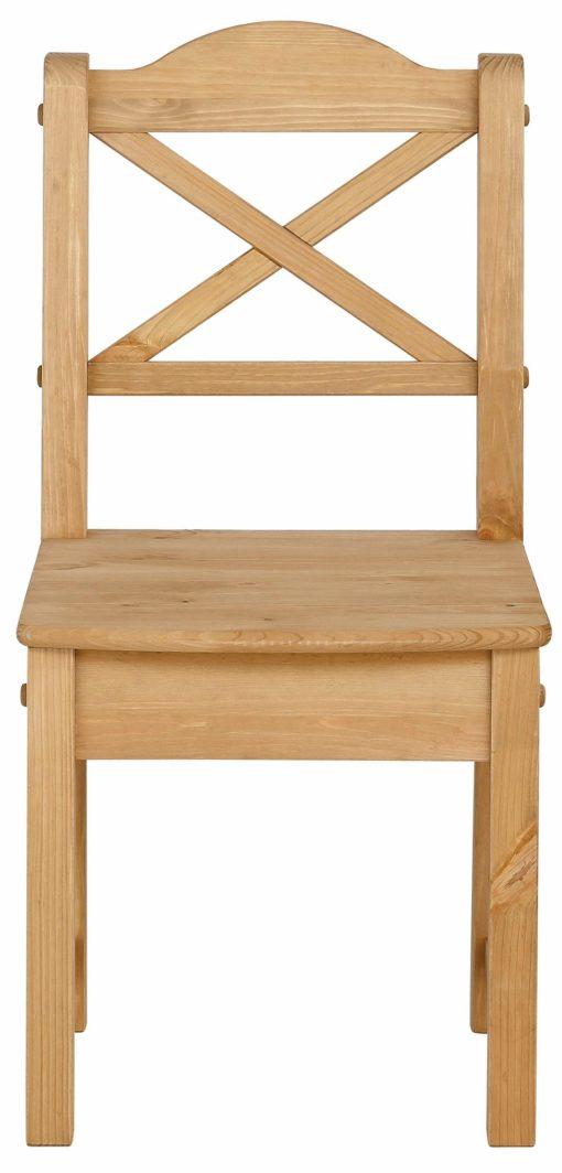 Zestaw czterech drewnianych krzeseł