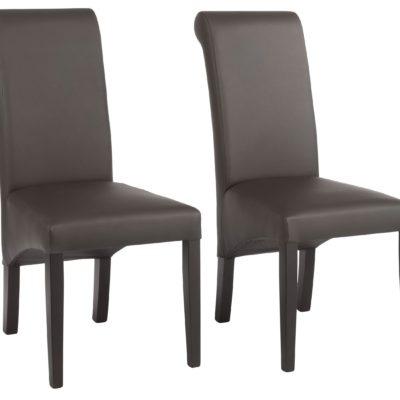 Krzesła tapicerowane prawdziwą skórą - 2 sztuki