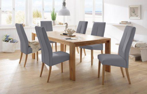 Atrakcyjne krzesła ze sztucznej skóry - 6 sztuk