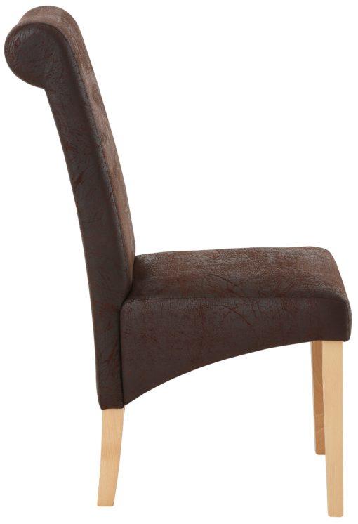 Niezwykle stylowy zestaw czterech krzeseł