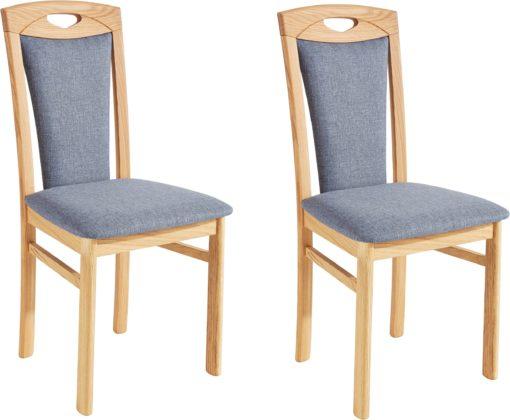 Klasyczne, tapicerowane krzesła - zestaw 6 sztuk