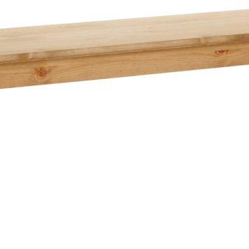 Zgrabna ławka z litej sosny