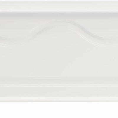 Solidna ławka ze schowkiem, biała