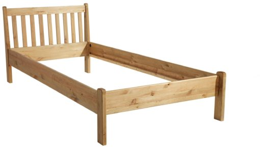 Minimalistyczne, sosnowe łóżko 90x200 cm