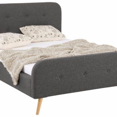 Atrakcyjne, tapicerowane łóżko 140x200cm - brąz