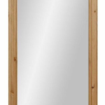 Duże lustro z pięknie zdobioną, sosnową ramą