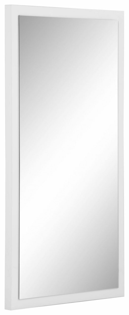 Eleganckie lustro na białej powierzchni