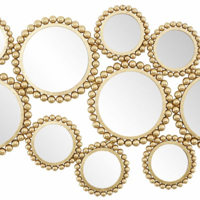 Designerska dekoracja z elementami lustrzanymi