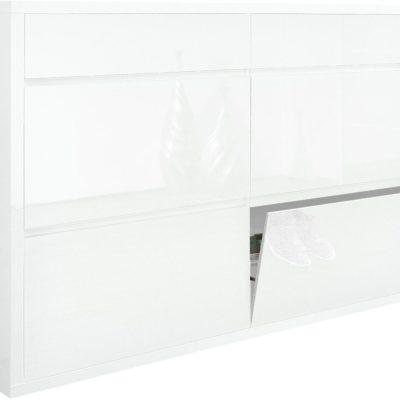 Pojemna szafka na buty w kolorze białym