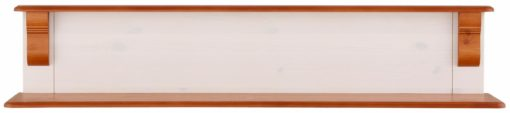 Sosnowa półka ścienna, biel + wiśnia