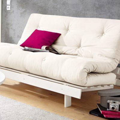 Nowoczesna kanapa z materacem futon