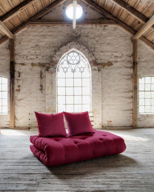 Nowoczesna, rozkładana sofa z materacem futon