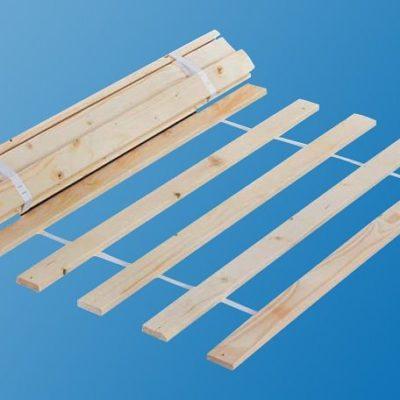 Stelaż do łóżka 90x200 cm, drewniany