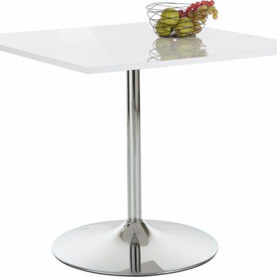 Nowoczesny stół z metalową nogą, kwadratowy