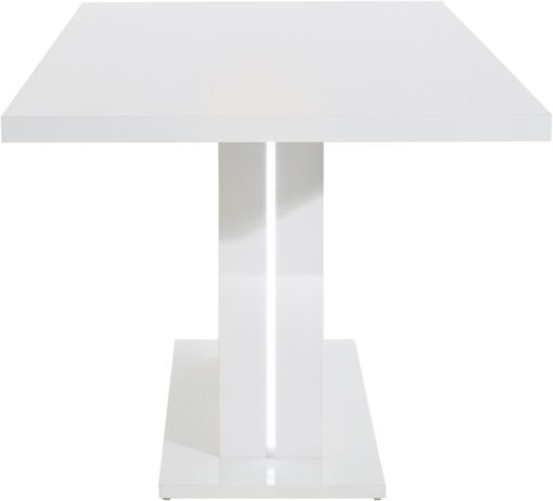 Nowoczesny i funkcjonaly stół, biały połysk