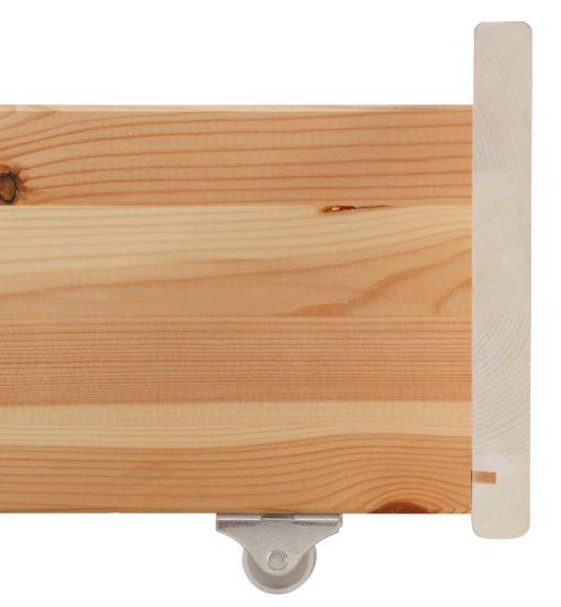 Praktyczna, sosnowa szuflada pod łóżko