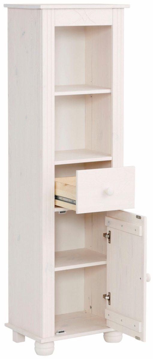Zgrabna witryna z szufladą i drzwiami