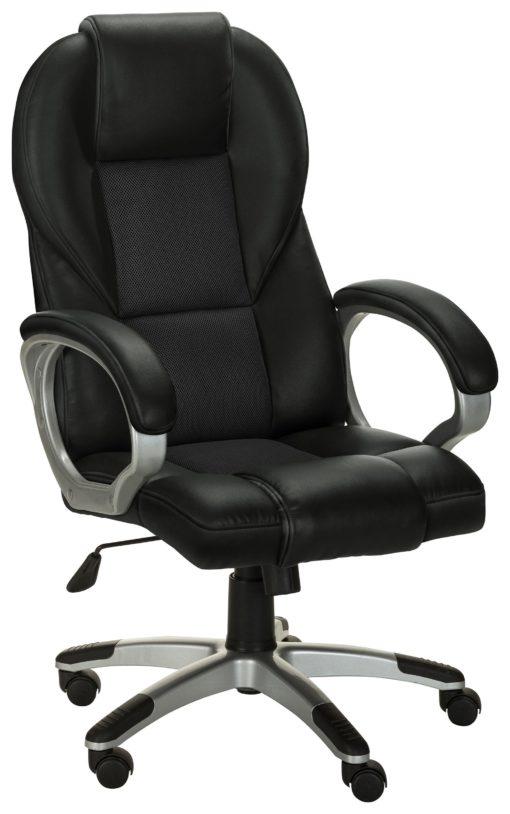 Obrotowy fotel biurowy ze sztucznej skóry