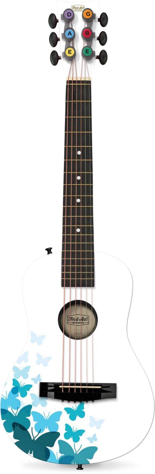Gitara akustyczna z motylami dla dzieci