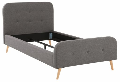 Atrakcyjne, pojedyncze łóżko tapicerowane 100x200 cm