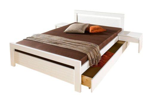 Klasyczne, sosnowe łóżko 160x200 cm