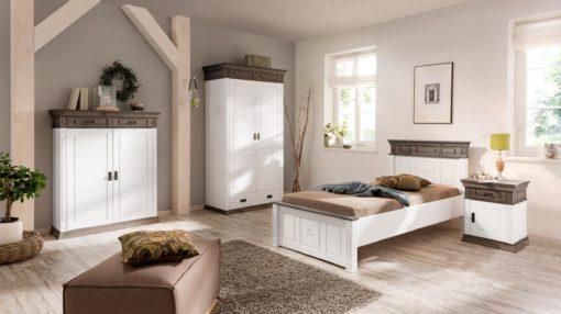 Wspaniałe łóżko z sosny 90x200 cm