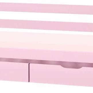 Świetne łóżko dla dziewczynki, w kolorze różowym