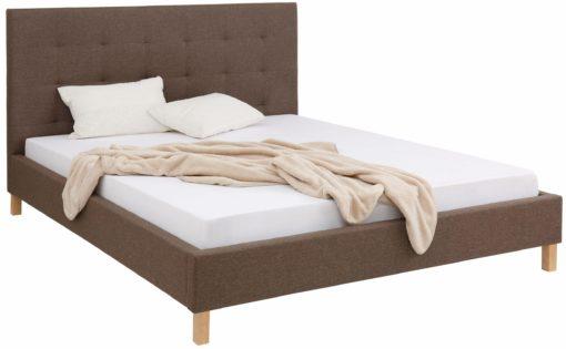 Eleganckie, tapicerowane łóżko 160x200 cm
