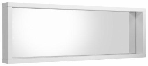 Duże, minimalistyczne lustro w białej ramie